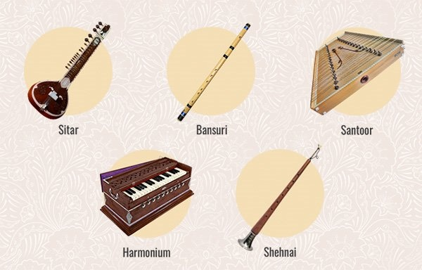 An extensive library of authentic sounding Indian instruments