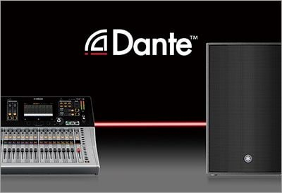 The First Dante Equipped Professional SR Loudspeakers
